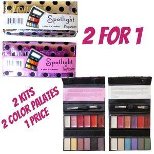 2 Spotlight Eyeshadows & Lipgloss Set NWT